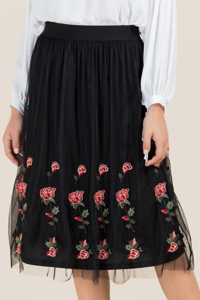 Cecilia Embroidered Tulle Skirt