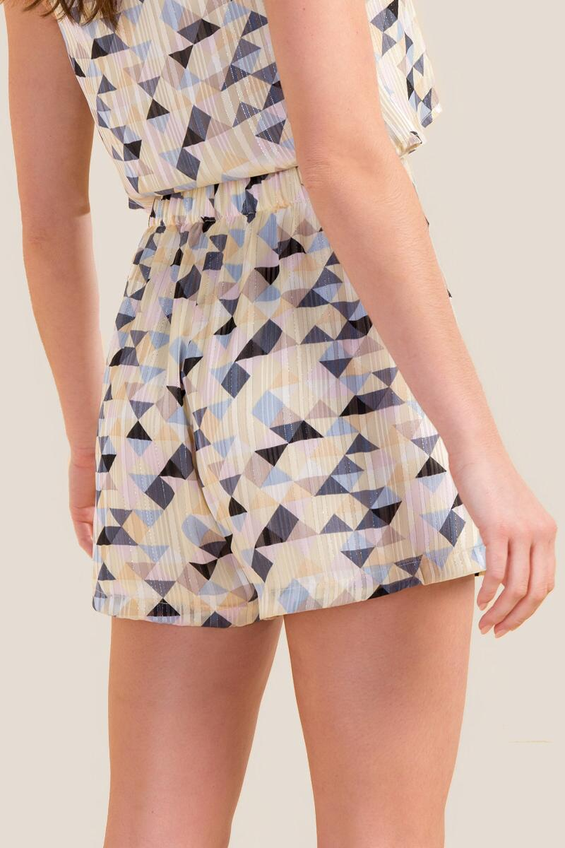 Keely Geometric Shorts-  ivry-cl2