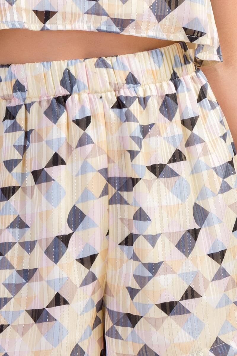 Keely Geometric Shorts-  ivry-cl3