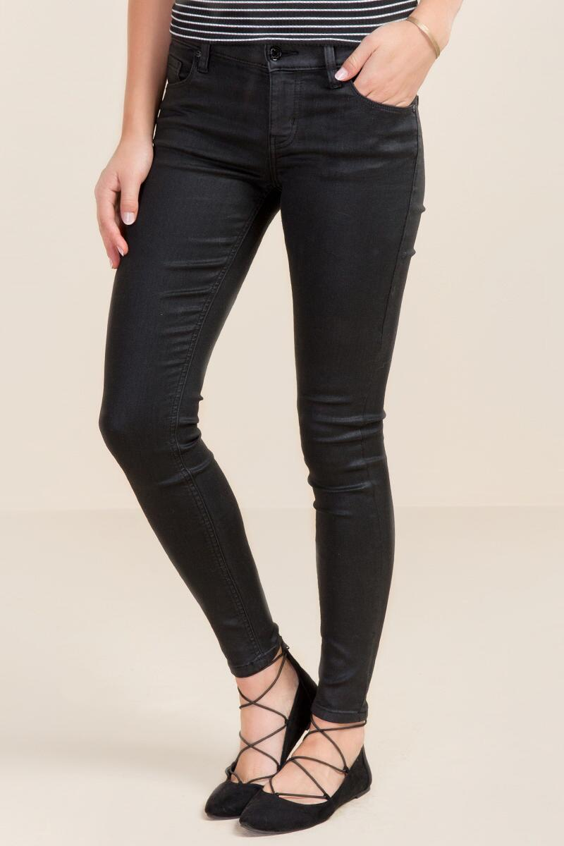 Eunina Coated Stretch Jeans