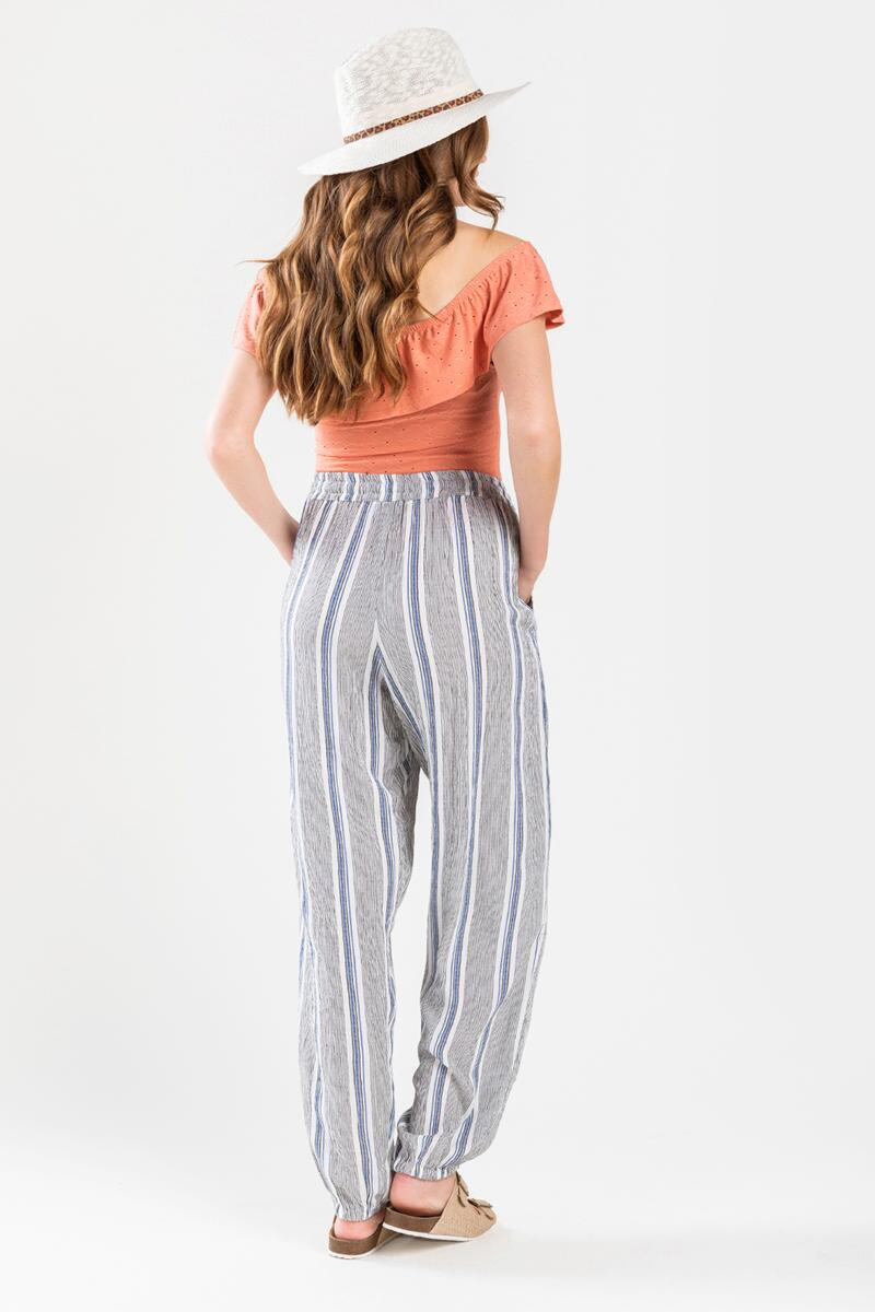 Tessai Striped Palazzo Pants- Blue 2