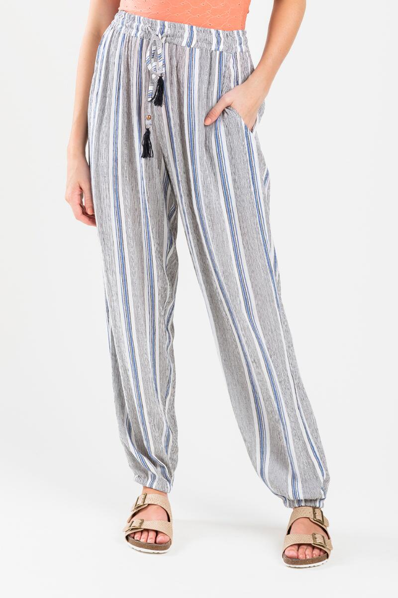 Tessai Striped Palazzo Pants- Blue 3