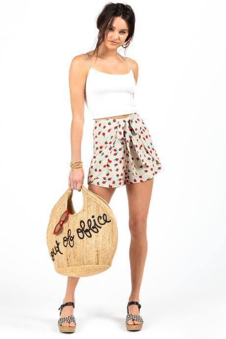 Layla Front Tie Apple Shorts