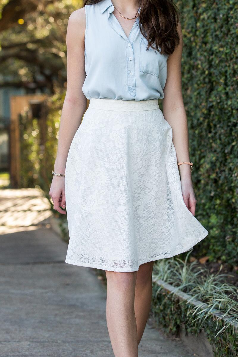 Abree Lace Midi Skirt
