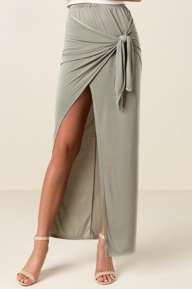 Solana Knotted Maxi Skirt