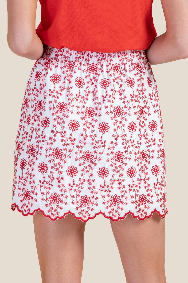 Zoey Colored Eyelet Skirt-  ivry-cl2