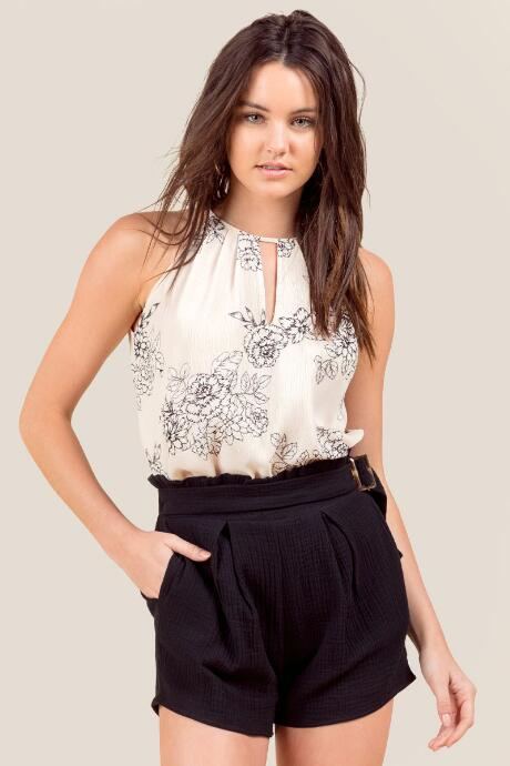 Dina Belted Side Clasp Shorts