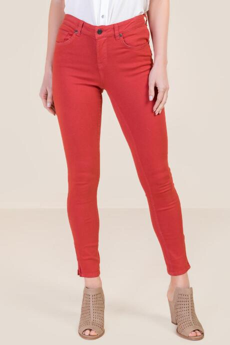 Harper Mid Rise Zipper Ankle Rose Jeans