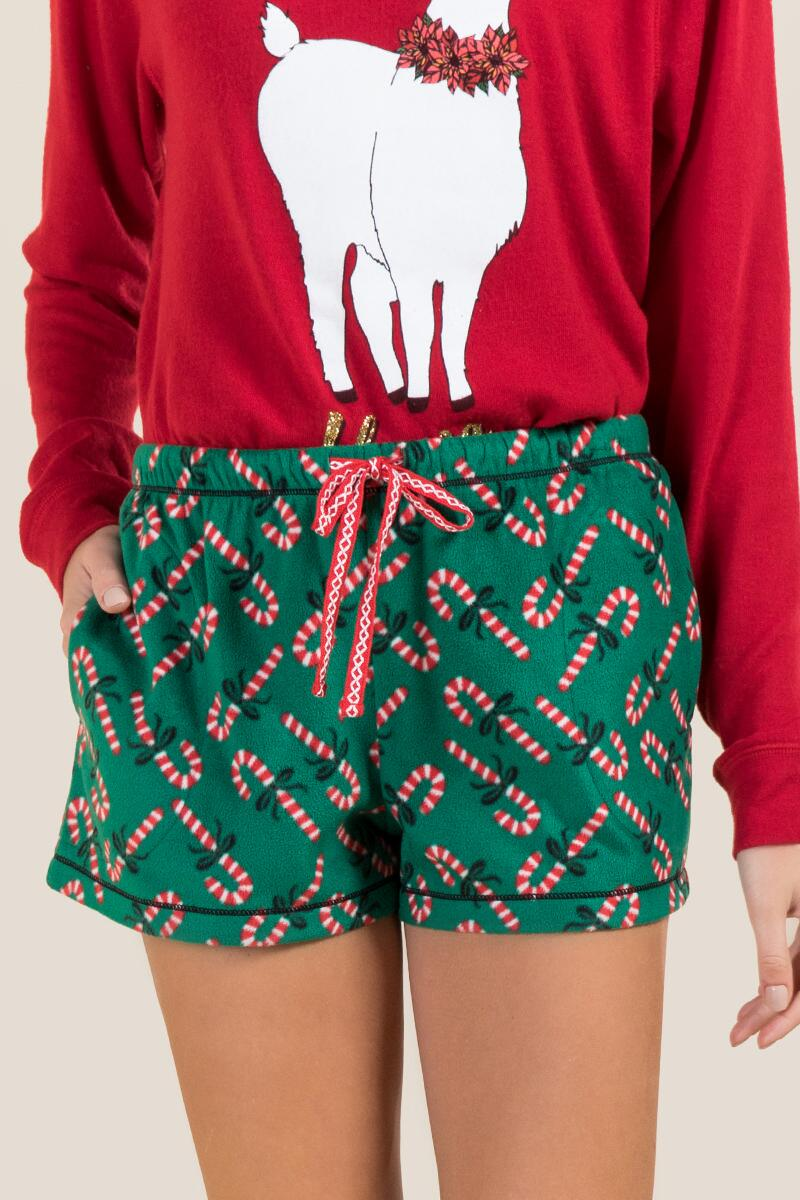 Candy Cane PJ Short