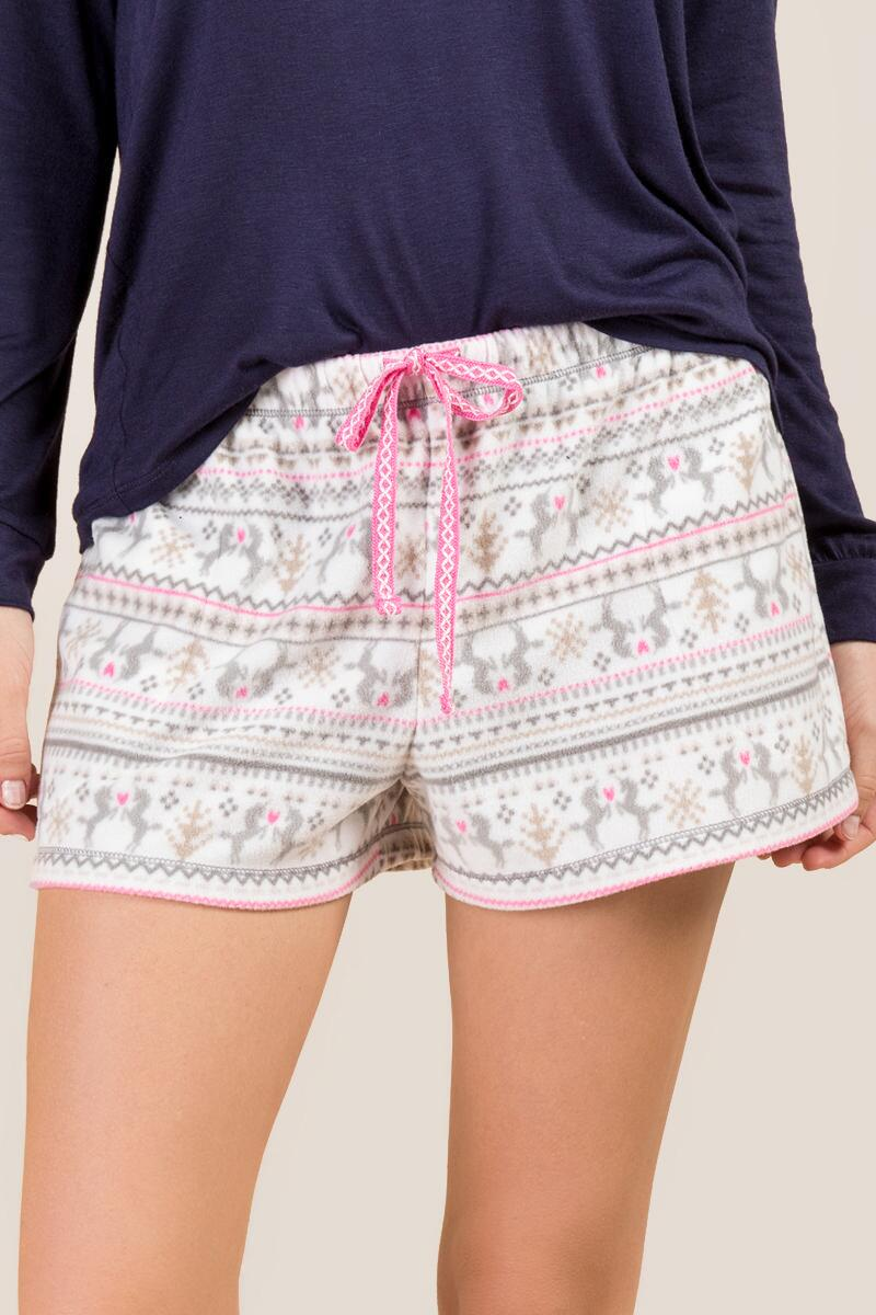 Ivory Unicorn Fair Isle PJ Shorts