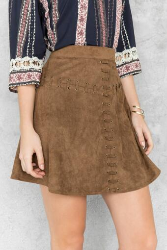 Tupelo Faux Suede Skirt
