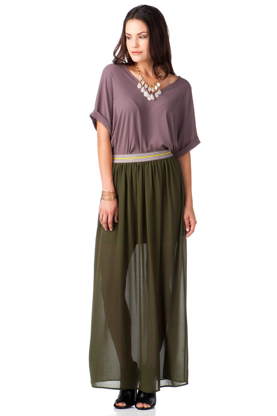 Sun City Chiffon Maxi Skirt