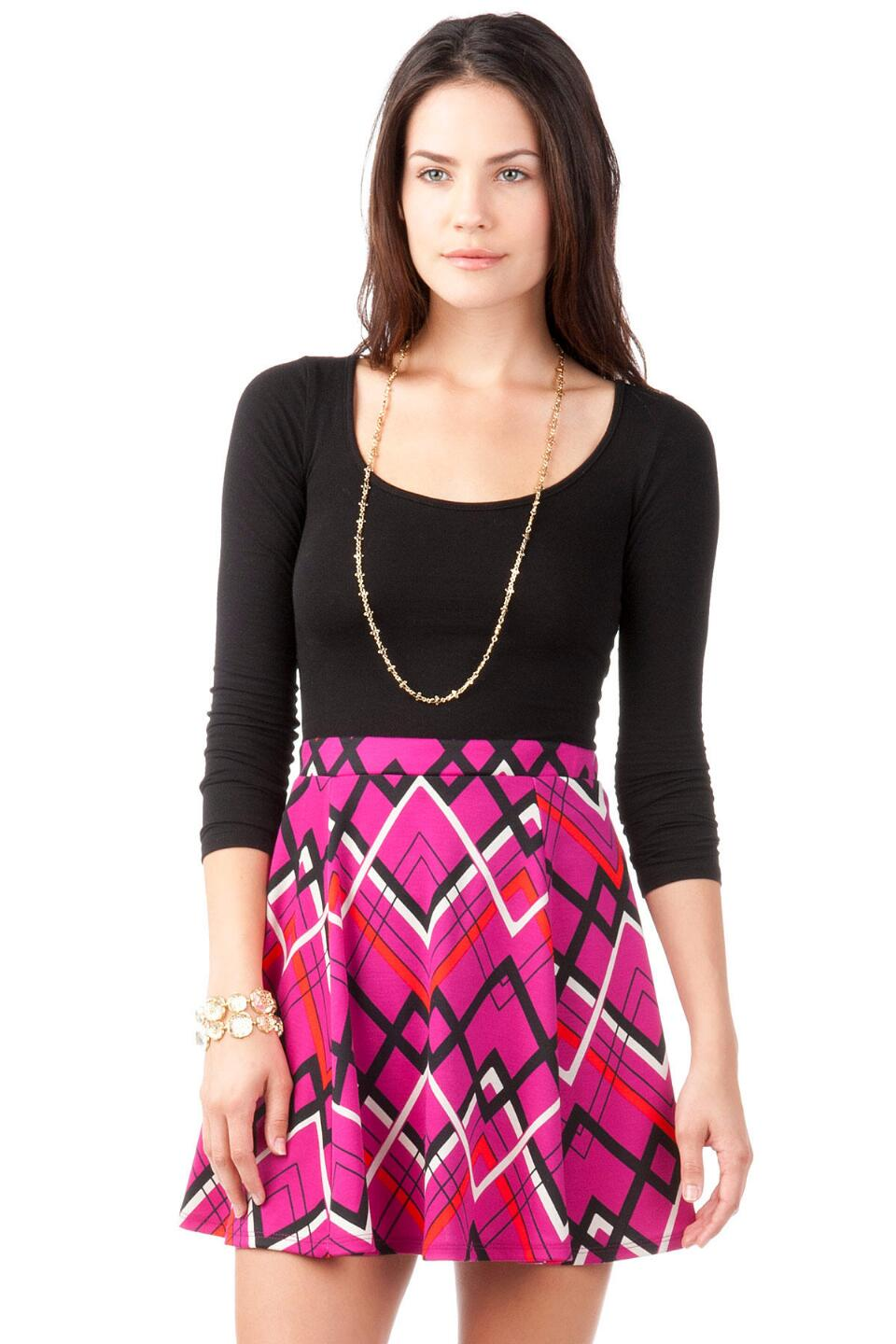 Harper Printed Skirt-  fush-cl