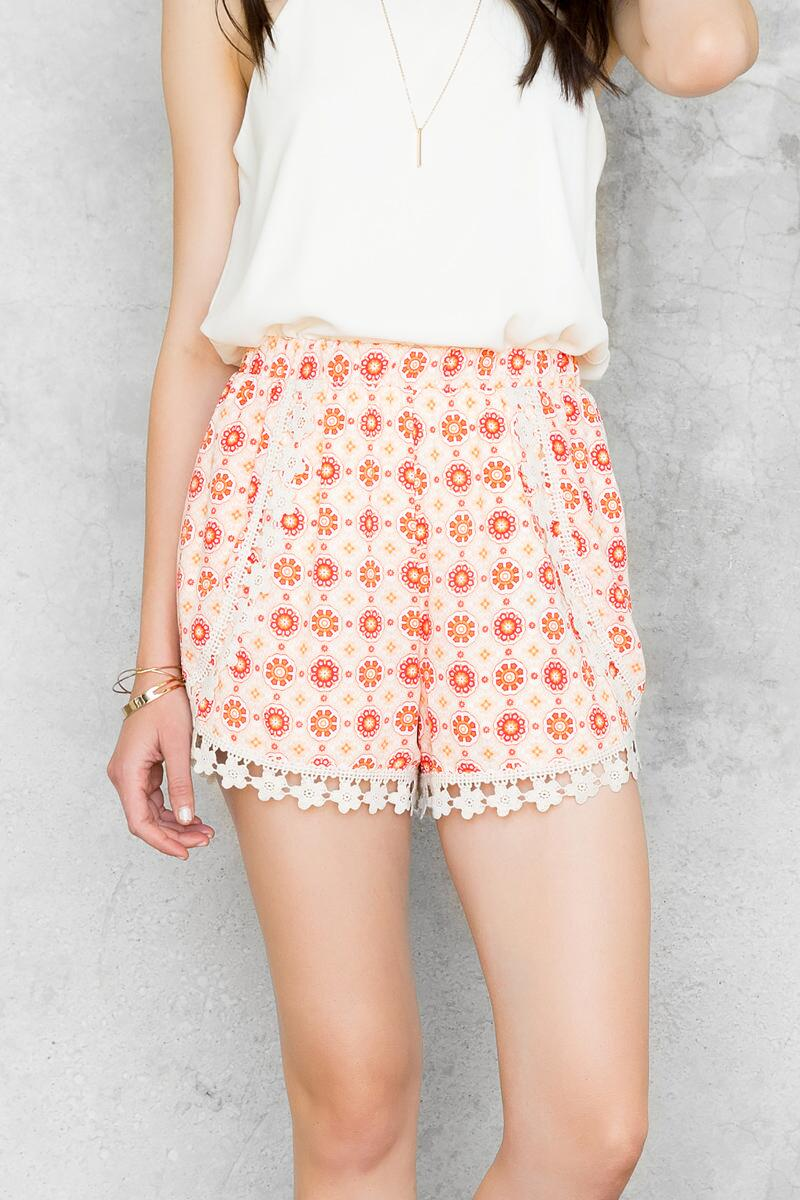 Chloe Printed Shorts