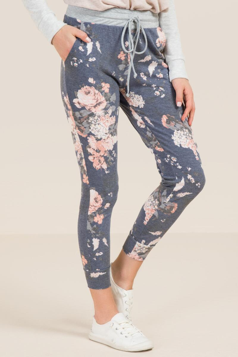 Whit Floral French Terry Joggers