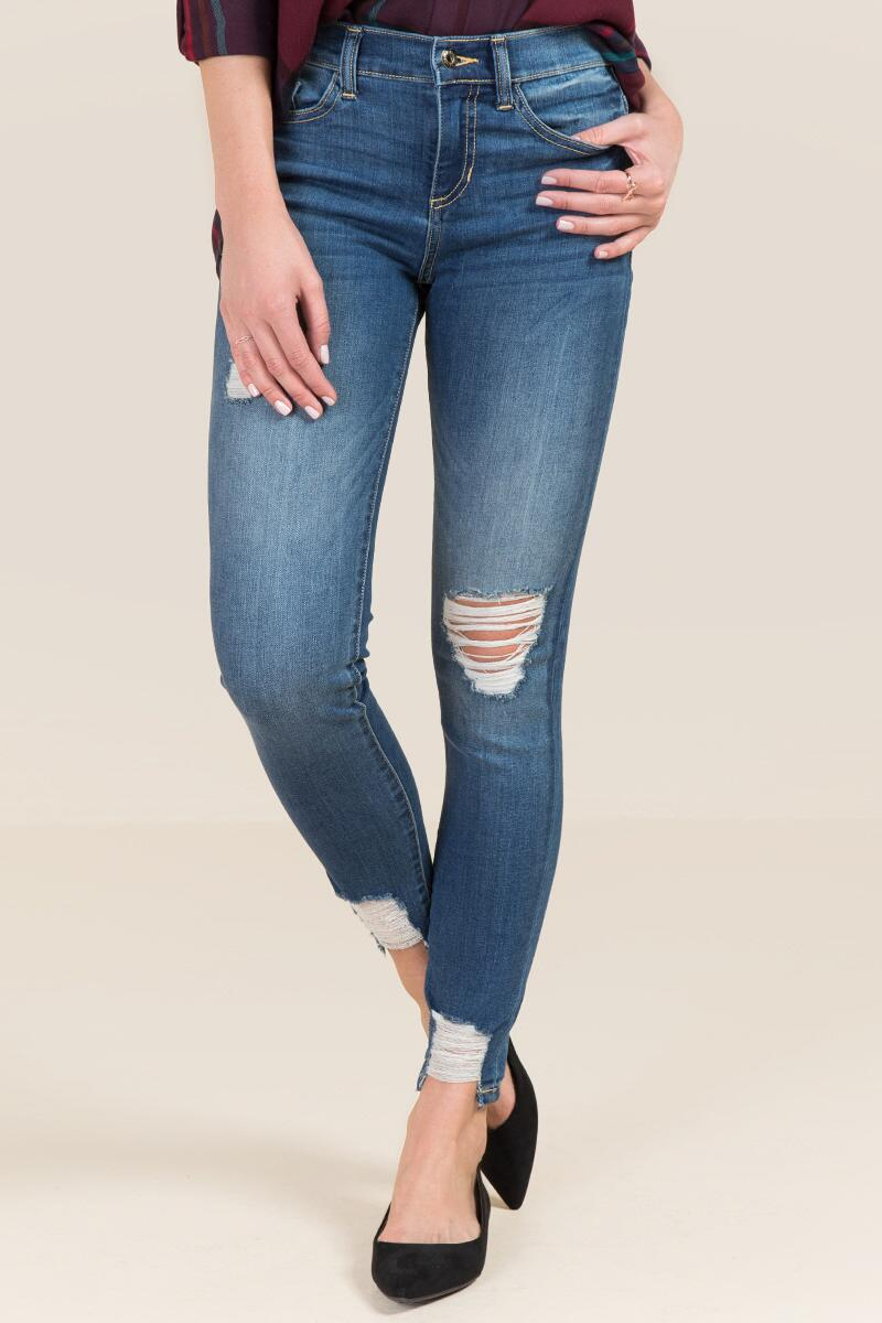Harper Destructed Chewy Hem Jeans