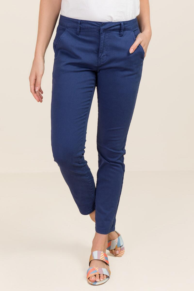 Mia Mid Rise Crop Chino Pant