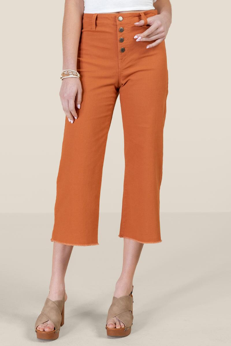 Harper Heritage Exposed Button Cropped Jeans