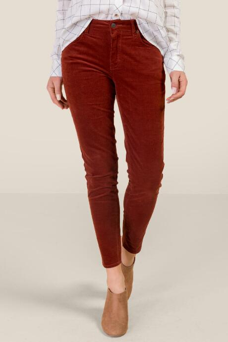 Kelly Micro Cord Mid Rise Skinny