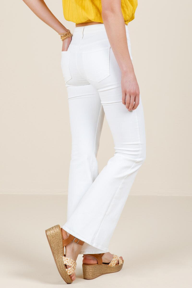 Harper Heritage High Rise Flare Jeans-  white-cl2