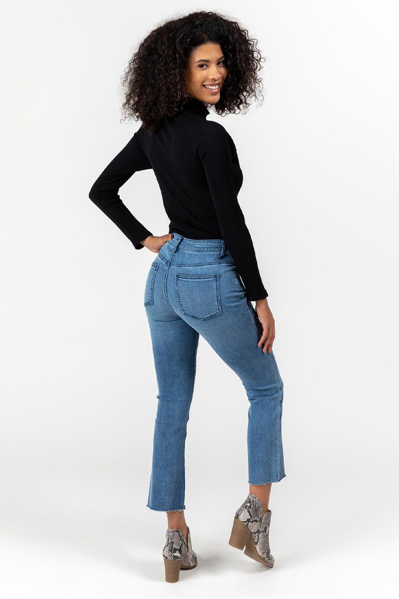 Brailee High Rise Cropped Jeans-  med-cl2