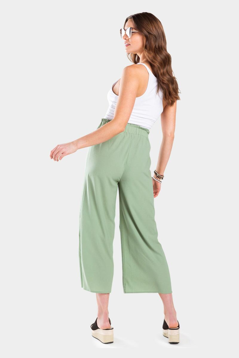 Conney Cropped Palazzo Pants- Sage 2