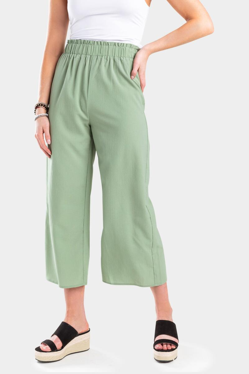 Conney Cropped Palazzo Pants- Sage 3