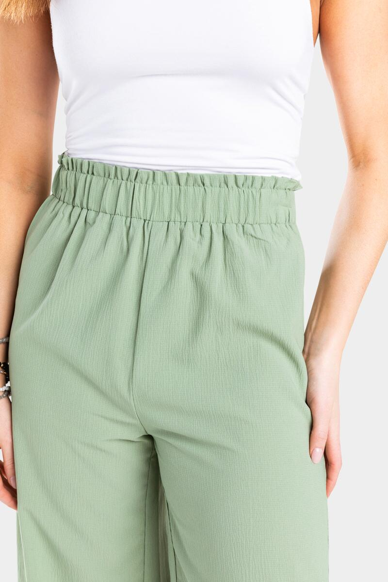 Conney Cropped Palazzo Pants- Sage 4