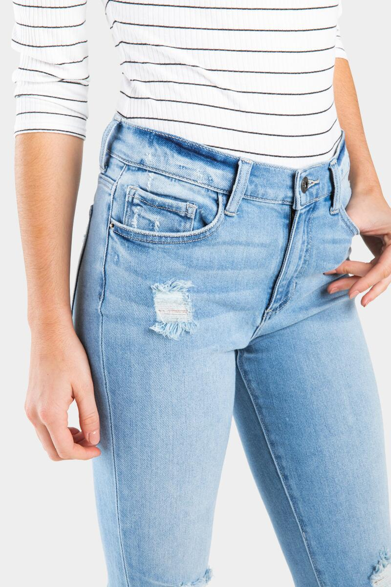 Brandy Cropped Frizzed Ripped Lite Denim-  lite-cl4