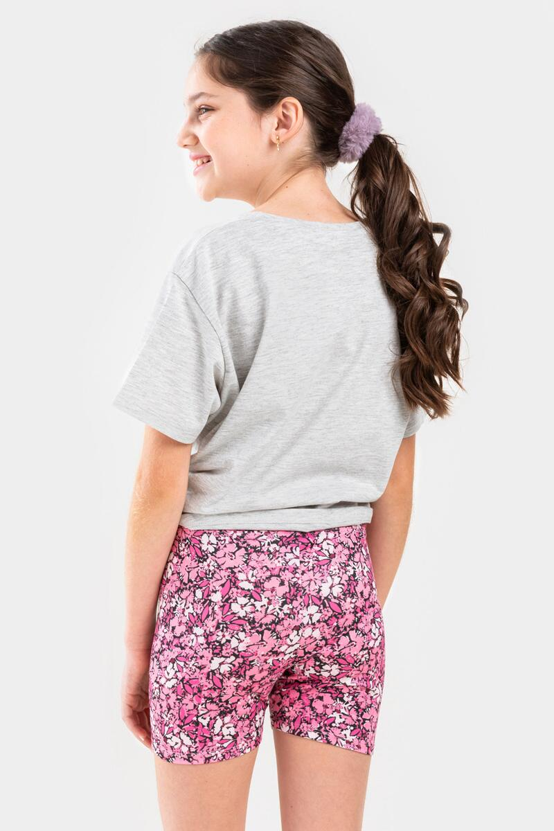 franki Floral Biker Shorts for Girls- Pink 4