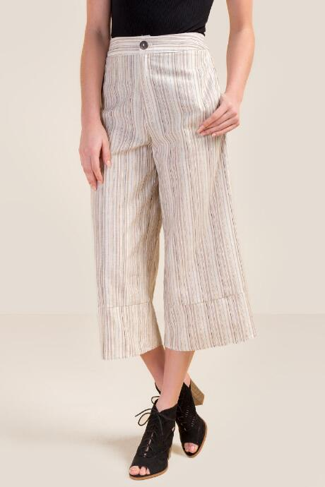 Amil Striped Culottes Pants