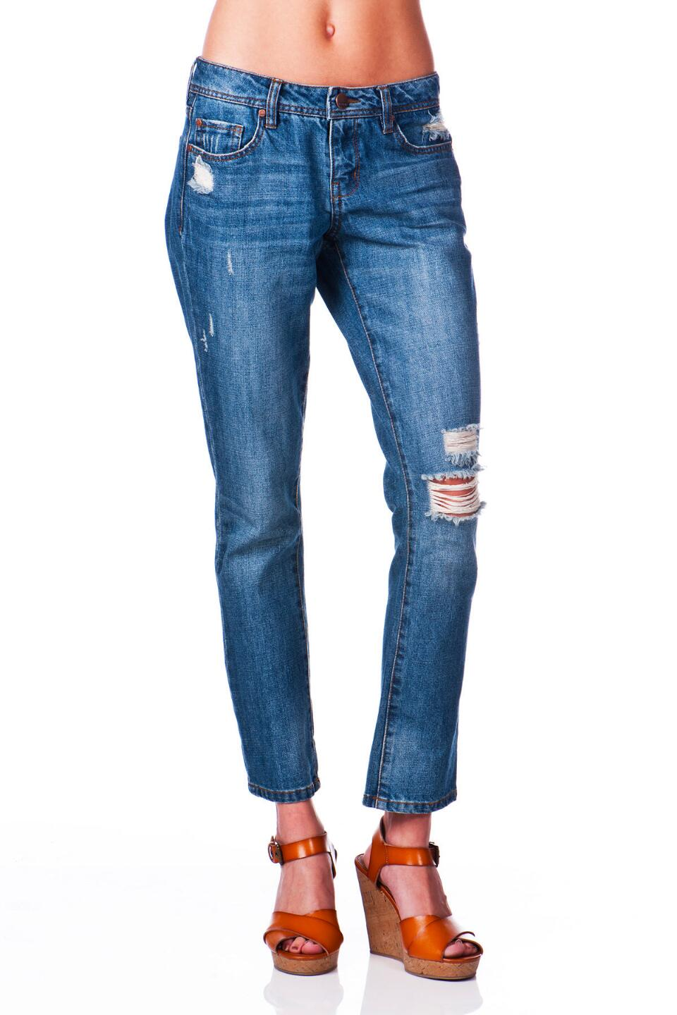 Harper Boyfriend Jean in All-American Wash-  blue-cl