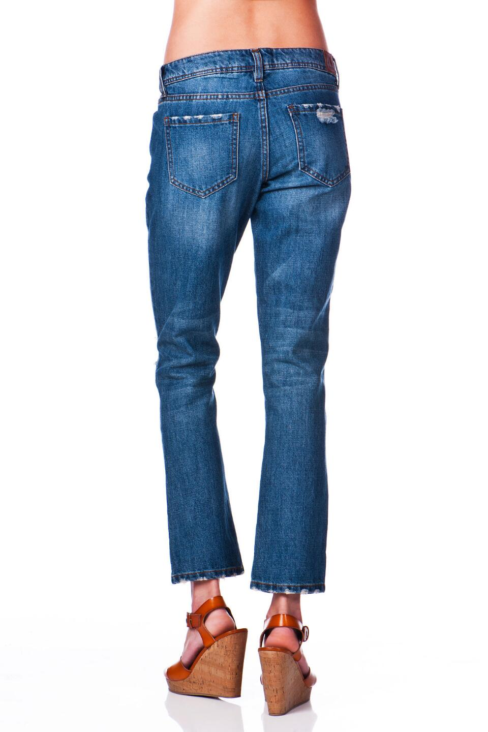 Harper Boyfriend Jean in All-American Wash-  blue-clback
