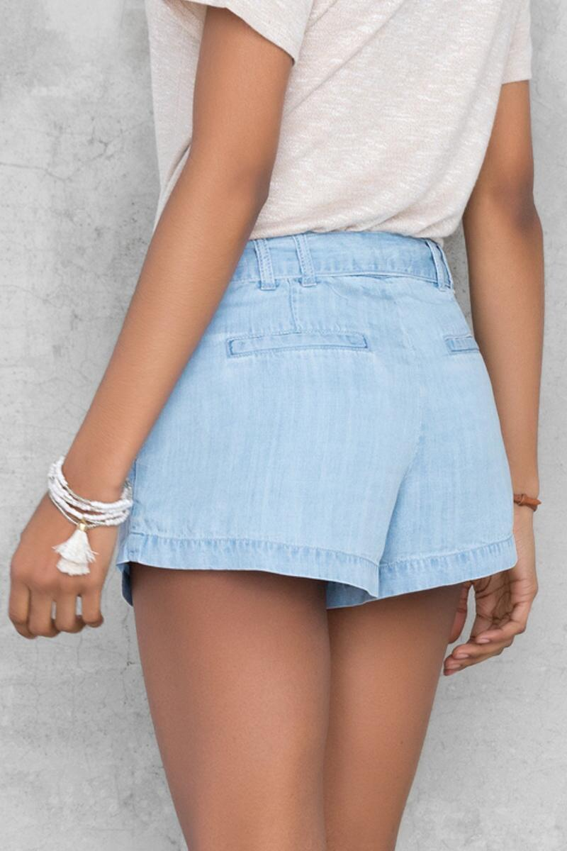 Caprice Chambray Short-  cham-clback