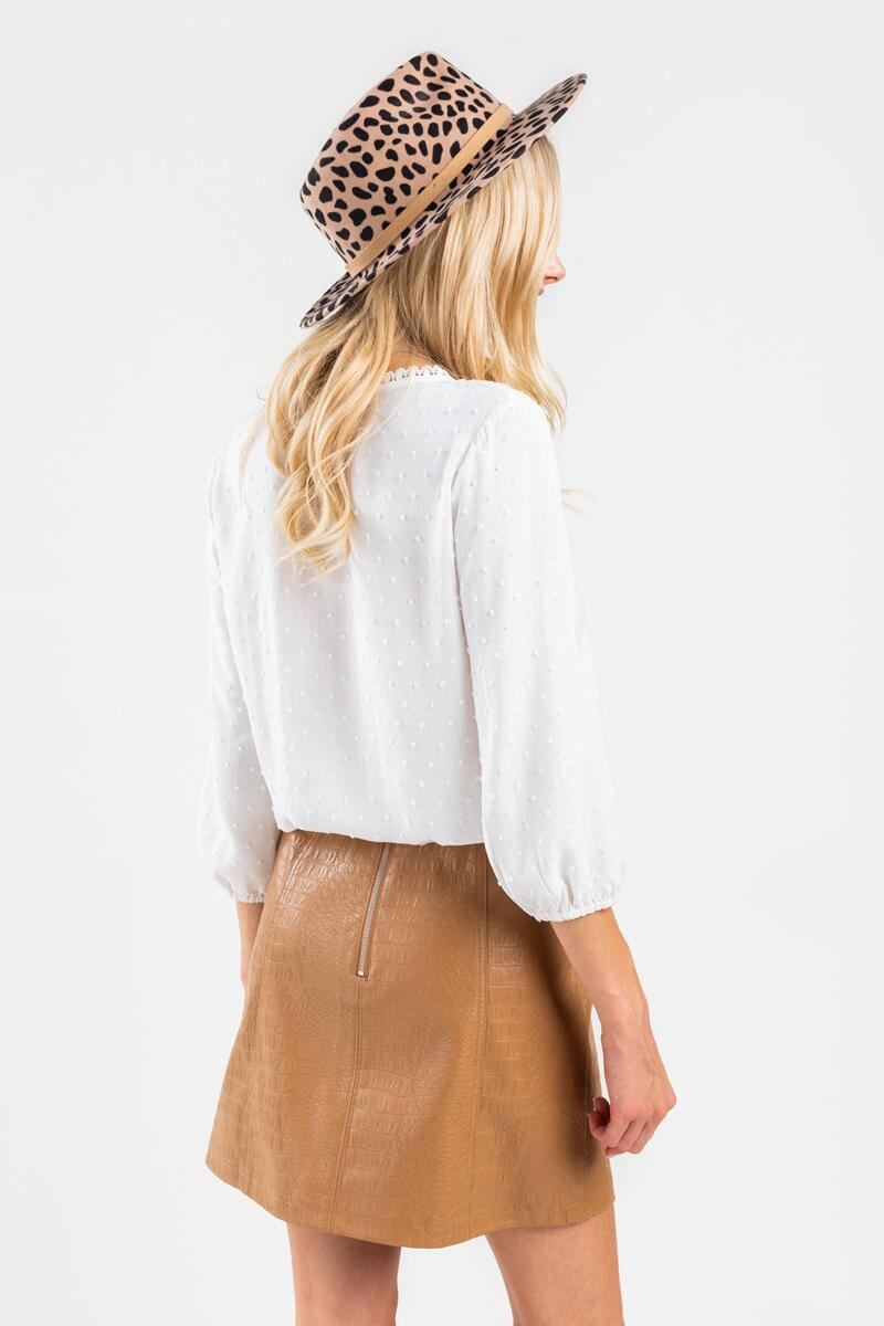 Jenna Faux Snake Mini Skirt-Taupe 2