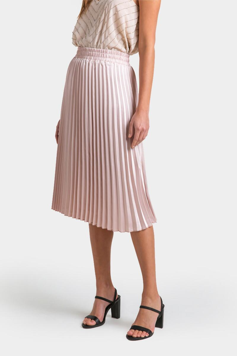 Raynell Pleated Midi Skirt- Champagne 3