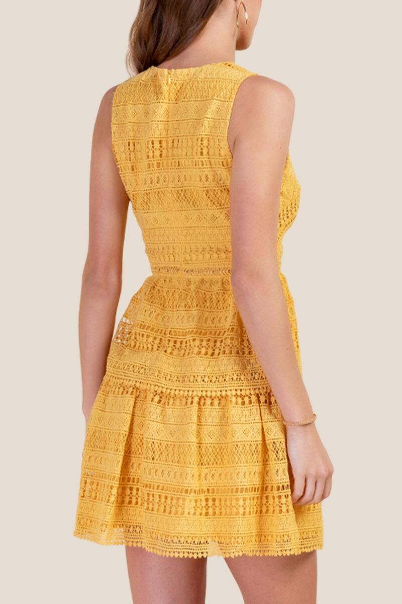Kailey Tiered Crochet Dress-  suns-cl2