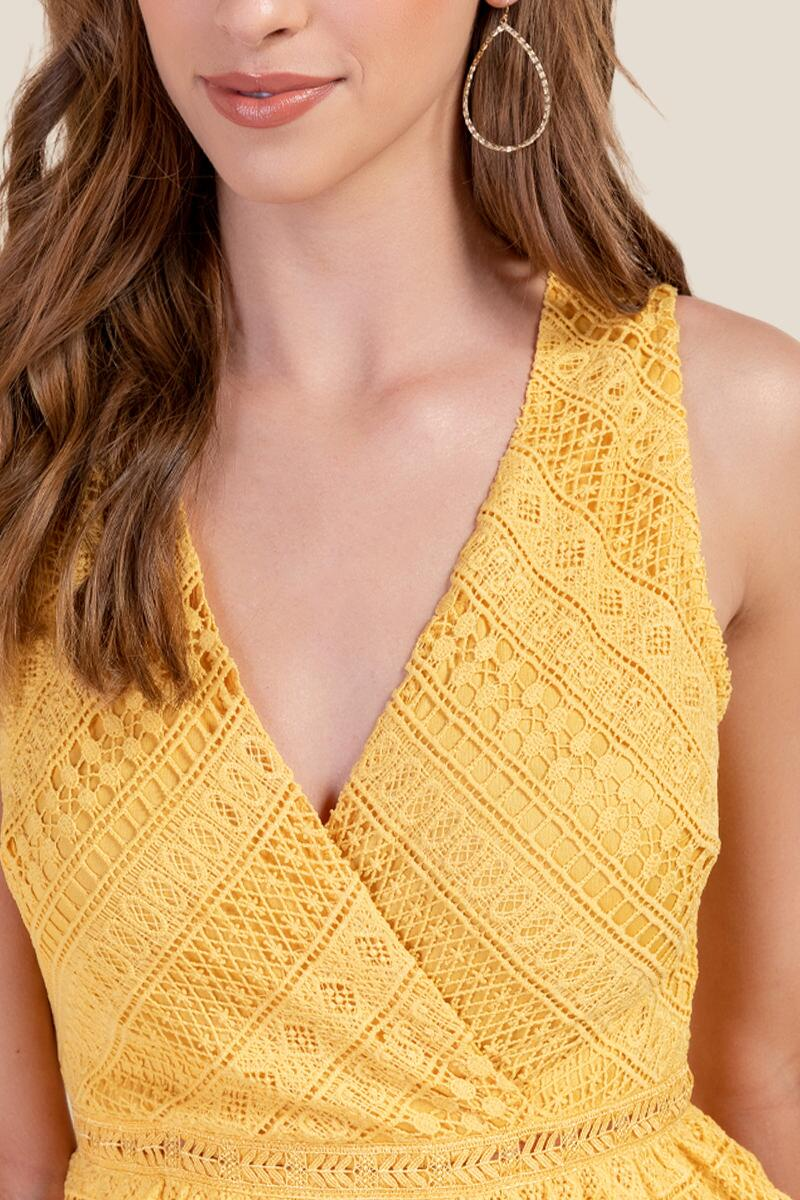 Kailey Tiered Crochet Dress-  suns-cl3
