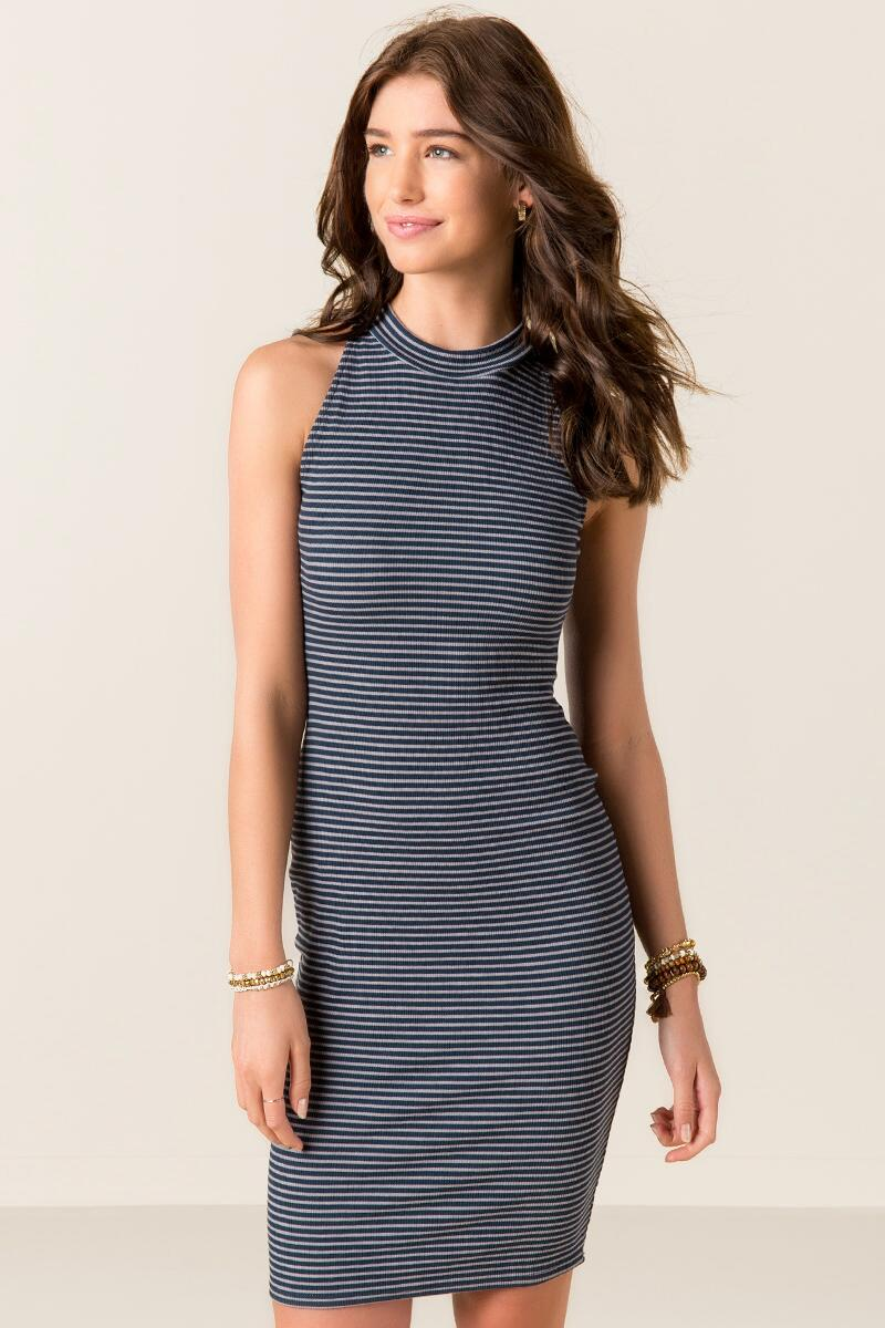 Callista Striped Knit Dress
