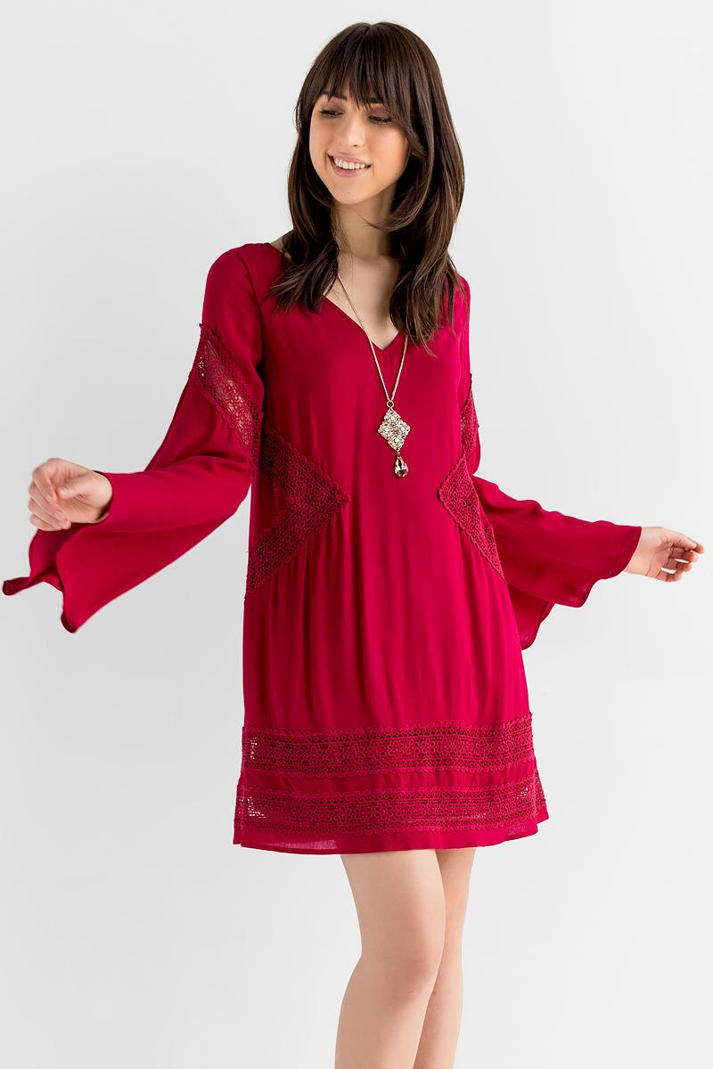 Appling Crochet Dress-  burg-cl