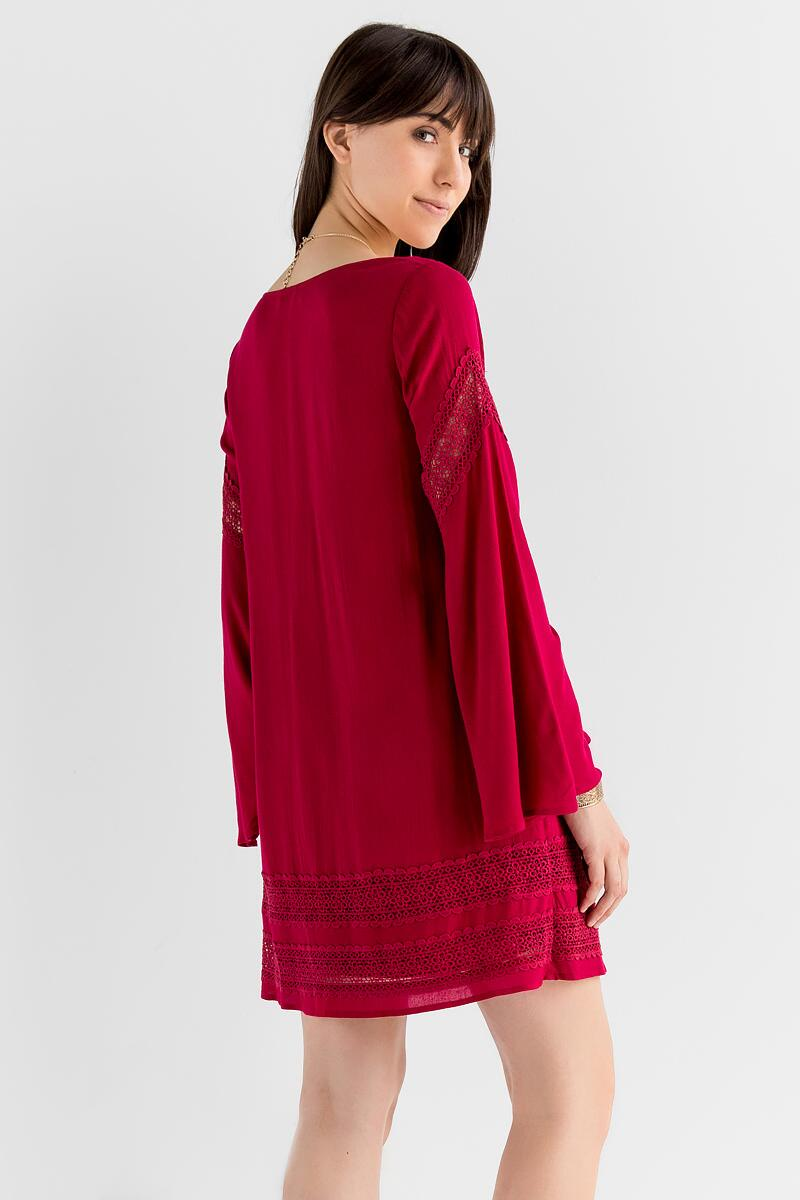 Appling Crochet Dress-  burg-clback