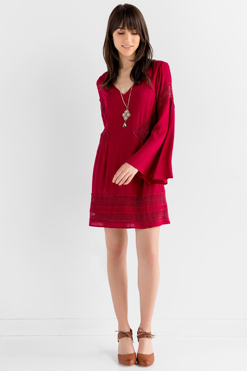 Appling Crochet Dress-  burg-clmodel