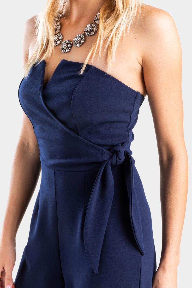 Kathleen Strapless Jumpsuit-  navy-cl3