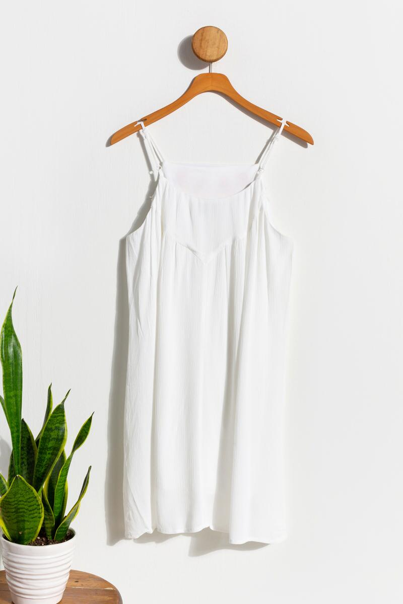 Emma Embroidered Shift Dress- Ivory 3