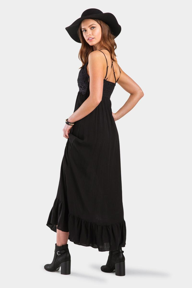 Quincey Bralette Maxi Dress-Black 3