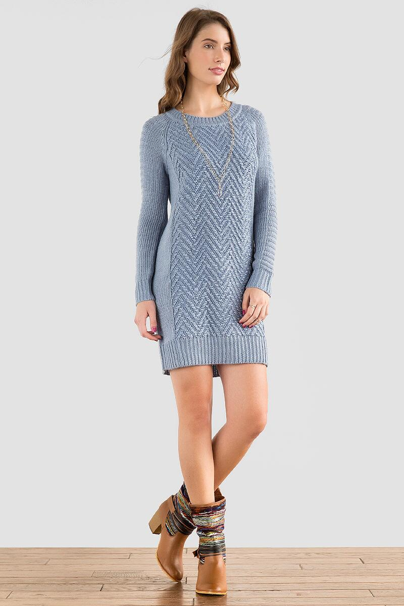 Quinn Textured Sweater Dress