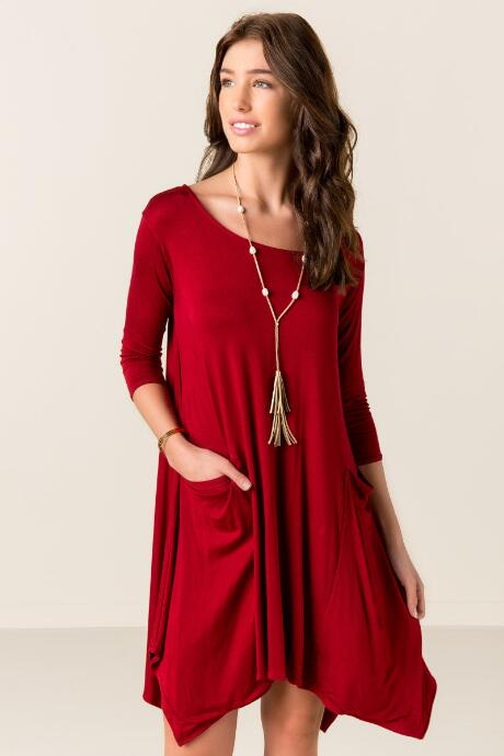 Flemming Solid Shift Dress
