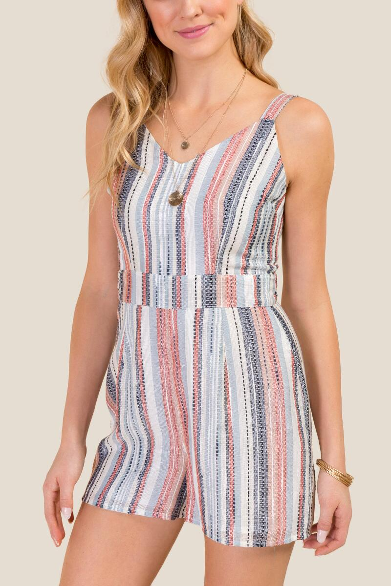 Juliana Striped Romper-  ivry-cl
