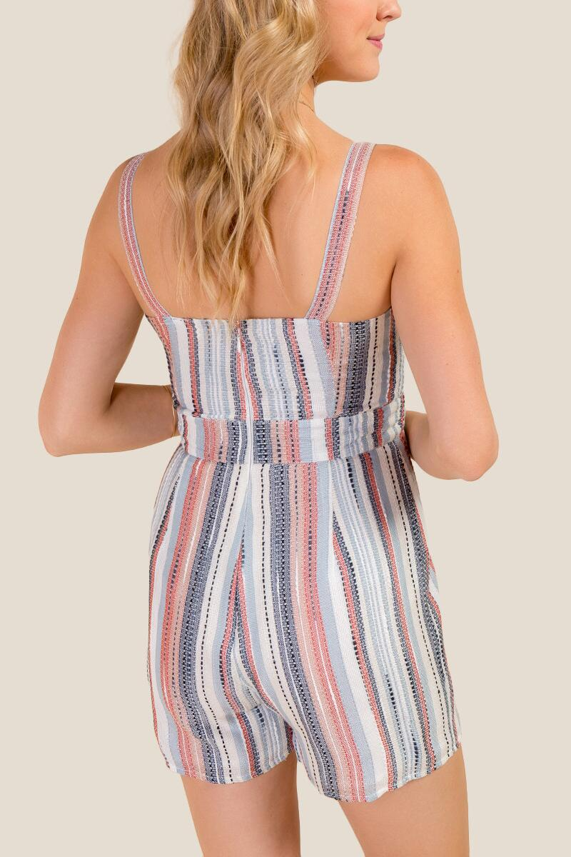 Juliana Striped Romper-  ivry-cl2
