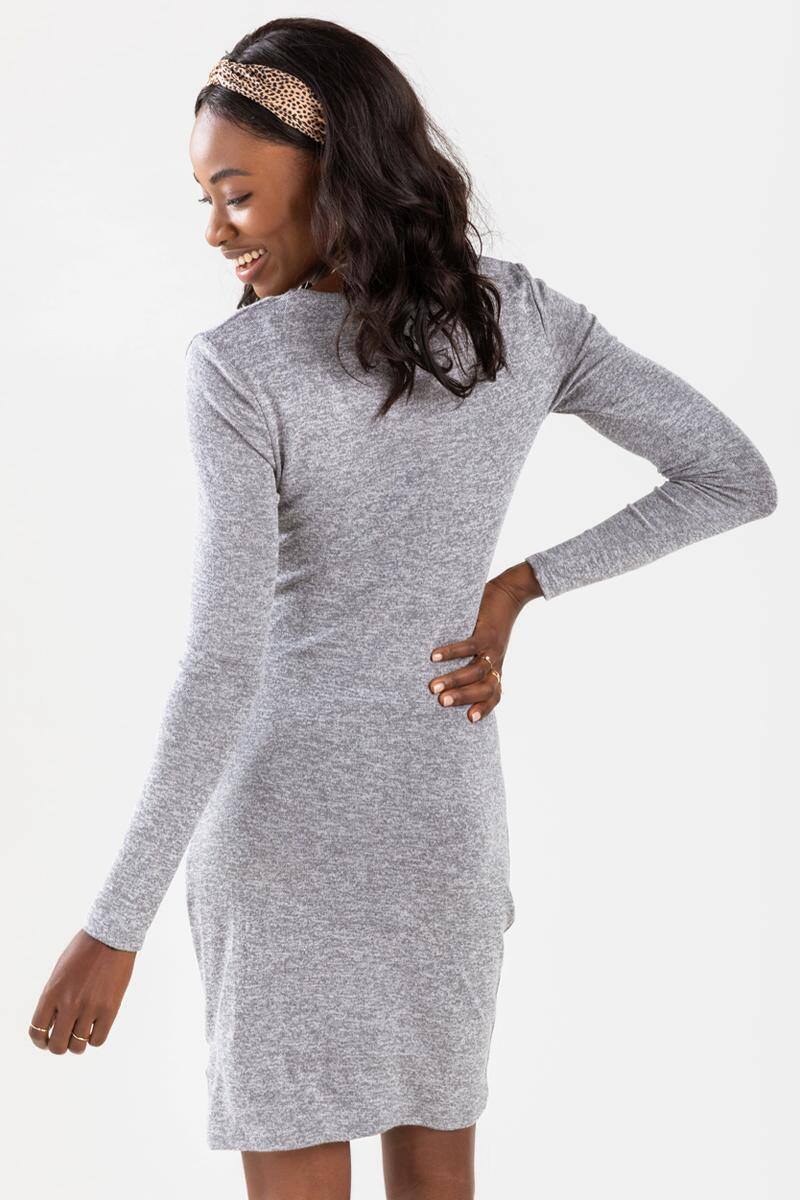 Brenn Asymmetrical Mini Dress-Gray 3